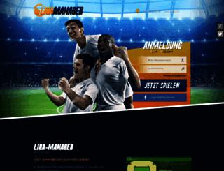 liga-manager.de screenshot
