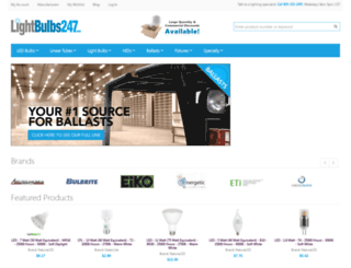 lightbulbs247.com screenshot