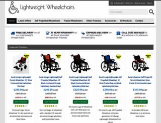 lightweightwheelchairsdirect.co.uk screenshot