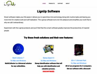 lignup.com screenshot