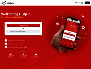 lijstje.nl screenshot