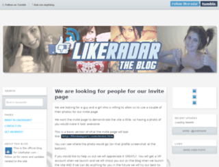 likeradar.tumblr.com screenshot