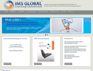 lili15.imsglobal.org screenshot