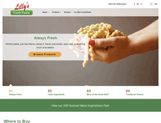 lillysfreshpasta.com screenshot
