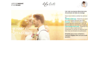 lily-liste.com screenshot