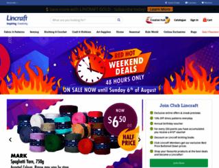 lincraft.com.au screenshot