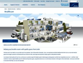 linde-healthcare.us screenshot