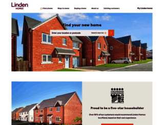 lindenhomes.co.uk screenshot