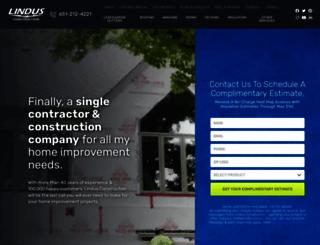 lindusconstruction.com screenshot