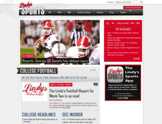 lindyssports.com screenshot