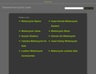 linemotorcycle.com screenshot