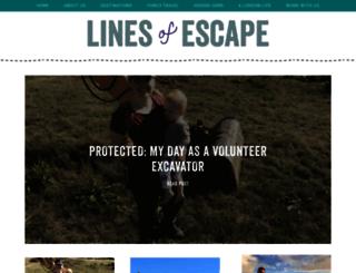 linesofescape.com screenshot