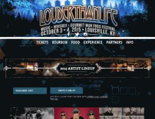 lineup.louderthanlifefestival.com screenshot