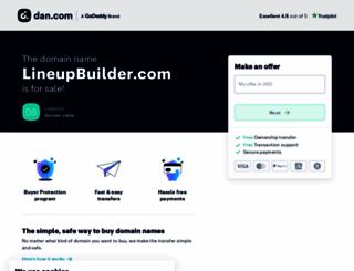 lineupbuilder.com screenshot