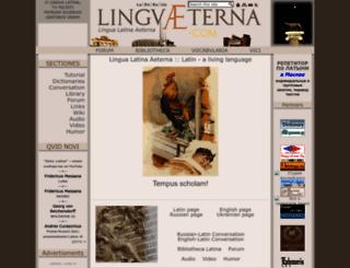 linguaeterna.com screenshot