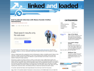 linkedandloaded.com screenshot