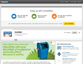 linkedin.click2mail.com screenshot
