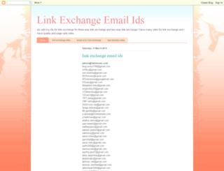 linkexchangeemailids.blogspot.in screenshot
