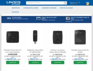 linksysstore.com.br screenshot