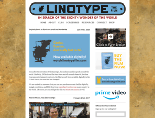 linotypefilm.com screenshot