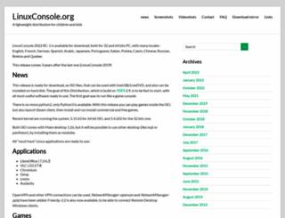 linuxconsole.org screenshot