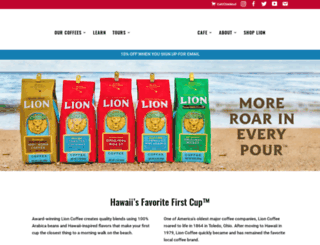 lioncoffee.com screenshot