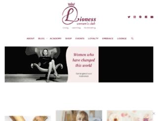 lionesswomansclub.com screenshot