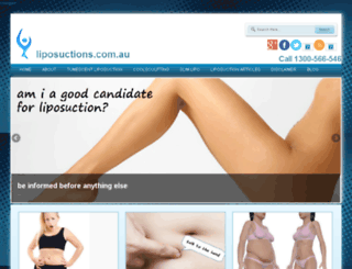 liposuctions.com.au screenshot
