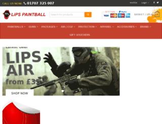 lips-paintball.com screenshot