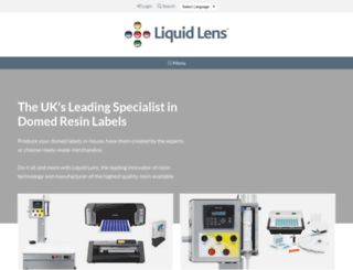 liquid-lens.co.uk screenshot