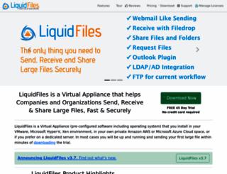 liquidfiles.com screenshot