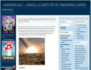 listaholic.com screenshot