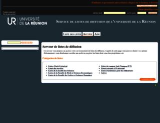 listes.univ-reunion.fr screenshot