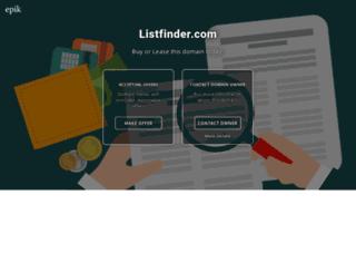listfinder.com screenshot