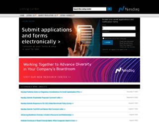 listingcenter.nasdaqomx.com screenshot