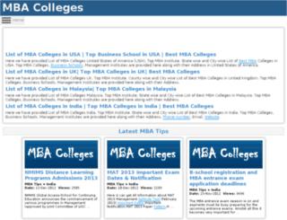 listmbacolleges.com screenshot
