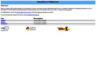 lists.jabber.ru screenshot