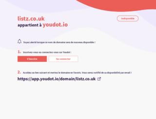 listz.co.uk screenshot