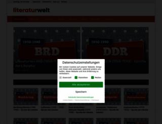 literaturwelt.com screenshot