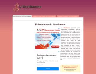 lithothamne.net screenshot