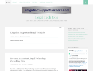 litigationsupportcareers.com screenshot