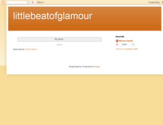 littlebeatofglamour.blogspot.com.br screenshot