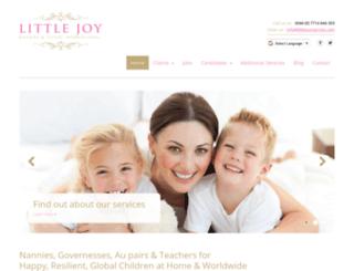 littlejoynannies.com screenshot