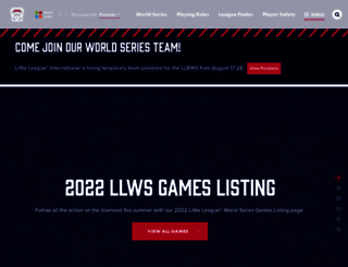 littleleague.org screenshot
