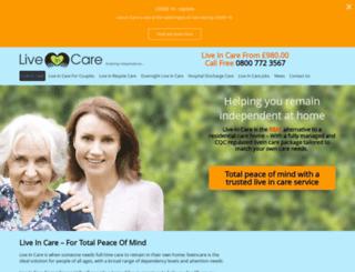 live-in.care screenshot