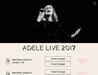 live.adele.com screenshot
