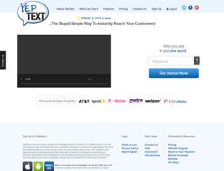 live.yeptext.com screenshot