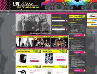 live4live.co.uk screenshot
