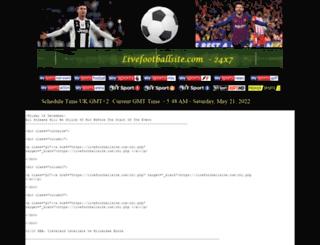 livefootballsite.com screenshot