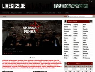 livegigs.de screenshot